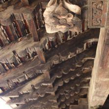 Embakke Temple wooden roof carving