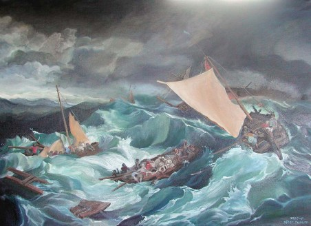 Shipwreck reproduction by B McCue