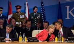 President_Obama,_Secretary_Clinton_and_Prime_Minister_Brown_at_the_2009_NATO_summit