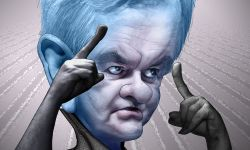 "By DonkeyHotey (Flickr: Newt Gingrich - megaNewt Caricature) [CC-""(Newt Gingrich is) A Stupid Man's Idea Of What A Smart Person Sounds Like"" - Paul KrugmanBY-SA-2.0 (www.creativecommons.org/licenses/by-sa/2.0)], via Wikimedia Commons"