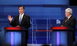 romney gingrich debate sc