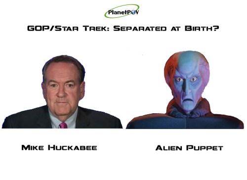 Huckabee Alien Puppet