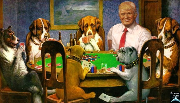 Trump Poker Dog
