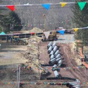 Photo of pipeline project from Fight the Pipe.