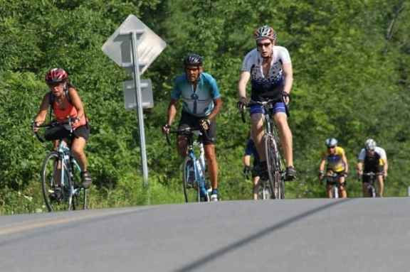 The cyclists faced several steep climbs on day four of the Ride for Runaways. Photo: Jeanne Imbrigiotta.