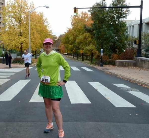 Jacquelyn Koetting Pillsbury of Lawrence poses on Washington Road.