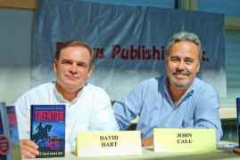 Writers Dave Hart and John Calu signed books at the 2011 Local Authors Day.