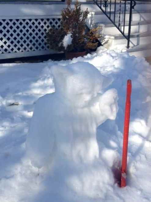 "Patton Avenu Snow-da says, ""Strong am I in the force--but not that strong."""