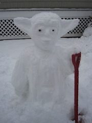 """Snow'da"" by Patton Ave. residents Ellie and Molly."