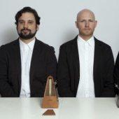 The members of So? Percussion are Eric Beach, Josh Quillen, Adam Sliwinski, and Jason Treuting.