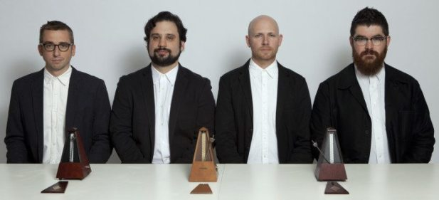 The members of So? Percussion are Eric Beach, Josh Quillen, Adam Sliwinski, and Jason Treuting.