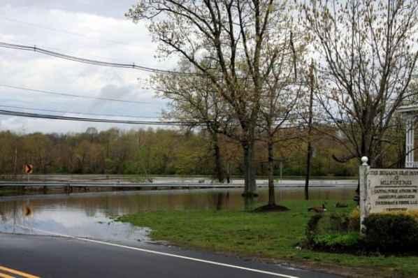 Mapleton Road flooding. Photo: Shani Abel.