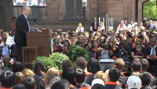 Al Gore calls on Princeton University graduates to help change the conversation about climate change.