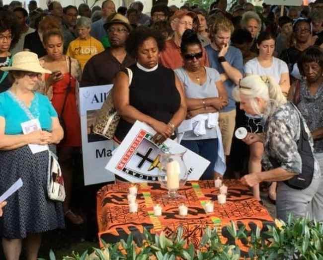 candlelight vigil palmer square
