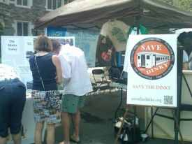 The Save the Dinky booth at Communiversity. File photo.