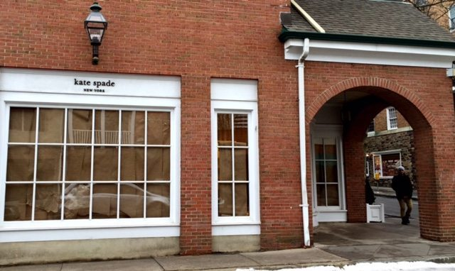 The former Kate Spade store on Palmer Square.