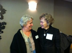 Jane Fremon (l)and Betty Wold Johnson (r).