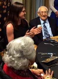 Phil Yanich, 103, enjoying his centenarian prom.