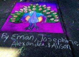 Chalk art on Palmer Square
