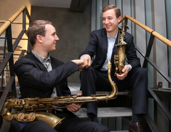 Brothers Peter and Will Anderson will perform at the 25th annual JazzFeast on Palmer Square.
