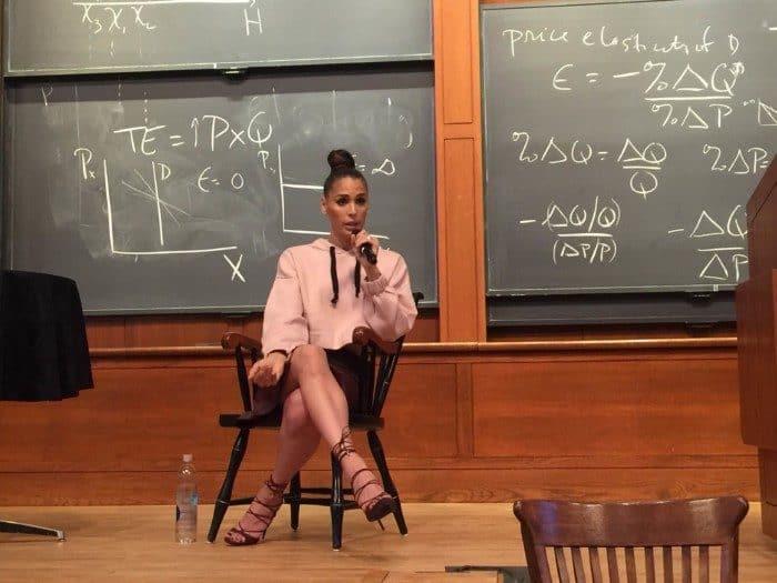 Carmen Carerra visited Princeton on Thursday, Sept. 29. Photo: Nathan Phan.