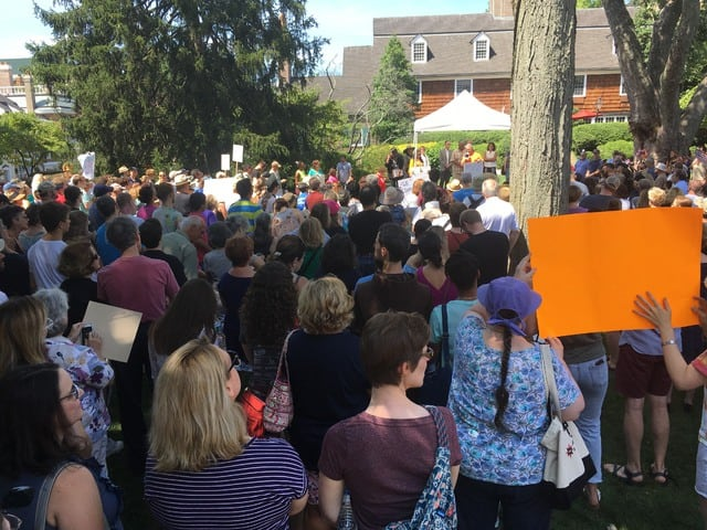 Photos: Hundreds gather for anti-hate rally in Princeton