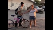 """Big Girl Snatches Her Boyfriend's Bike From Him For Cheating On Her! """"Took That N*ggas Virginity"""""""
