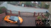 The Hate Is Real: Man Caught On Surveillance Keying A Lamborghini Aventador On Someone's Property!