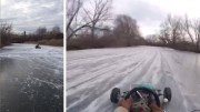 Go-Karting On Frozen Lake