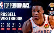 Russell Westbrook Becomes 2nd-EVER To Post 20p/20a/20r In A Game! | April 2, 2019
