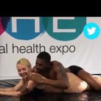 Where Was This Seminar? They Out Here Rolling Around In Lube While Dude Tries His Best To Give A Presentation!