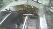 Damn: Guy Falls Down A Missing Space On A Escalator!