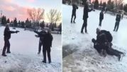 Calgary Police Officers Aggressively Arrest Hockey Player For Violating COVID-19 Rules!