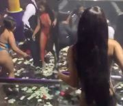 Get The Strap: Guy Gets Clobbered In The Head With An Ice Bucket Then Jumped Inside A Strip Club!