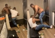 """""""Knock Me Out Or Leave"""" Man Couldn't Knock Out His Boy So He Was Told To Leave… Gets Cooked Instead!"""