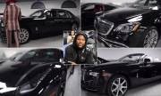 Money Different: In Light Of Black History Month Floyd Mayweather Shows Off His Fleet Of Black Luxury Cars!