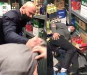 He Got Manhandled: Shoplifter Gets Taught A Painful Lesson After Getting Caught Trying To Steal Booze From A Store In Romania!