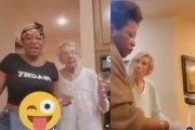 Elderly Lady Who Spat In Caregivers Face Reportedly Reconcile & Dance Together!
