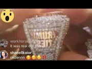 """Kodak Black Shows Off His New """"Trump Ties"""" Iced Out Ring!"""