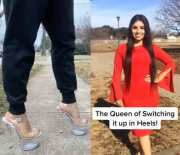 Impressive Is An Understatement: This Chick Can Run Anywhere In Her 7 Inch Heels!