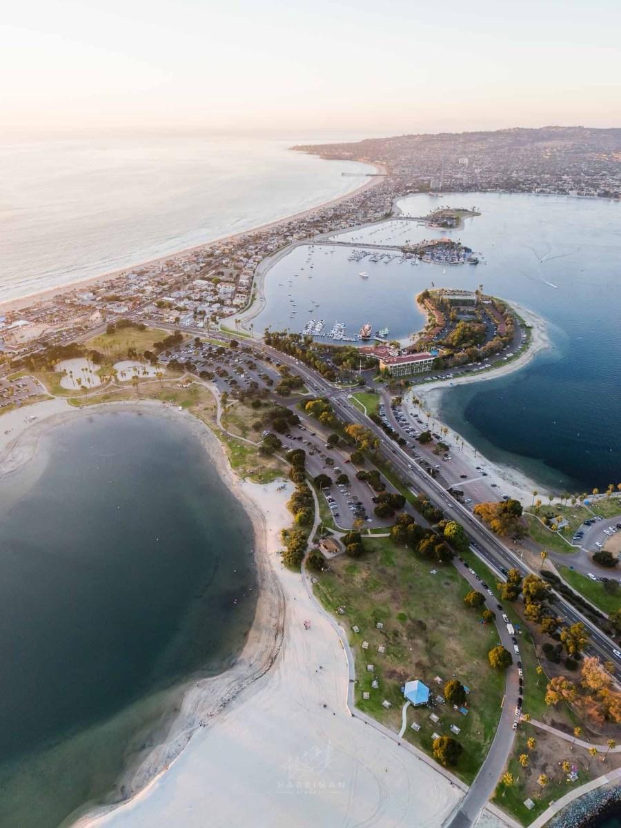 Mission Bay San Diego Aerial 2