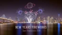 New Years Fireworks San Francisco 2014 Timelapse