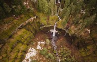 Oregon Aerial Drone Waterfall Planet Unicorn Toby