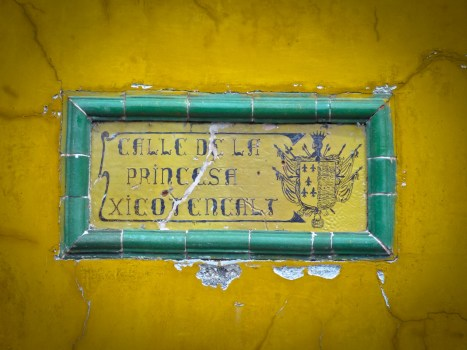 Travel Photo: Guatemala - Street Sign in Antigua
