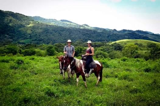 Victor and Jess Horseback Riding on Rubio and Maximo Through Finca El Cisne