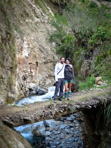 Salkantay Trek - Victor and Jess in Colpapampa's Old Hotsprings