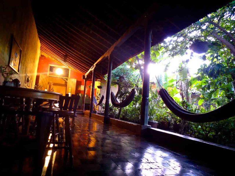 Via Via Hostel Lounge Area in Leon Nicaragua