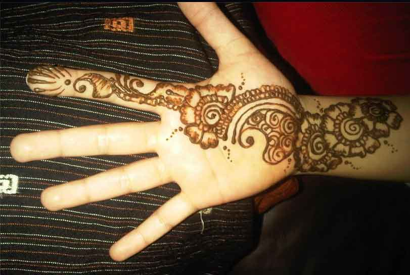 Simple Mehndi Designs For Hands Images Indian