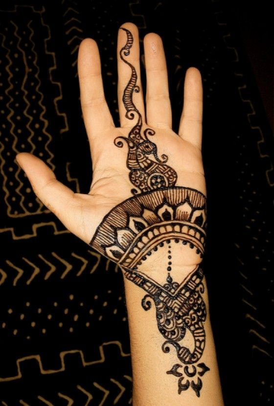 Simple Arabic Mehndi Design Images 2015