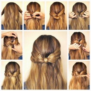 Top 5 DIY 5 Minute Hairstyles For Long Hair Indian Makeup And